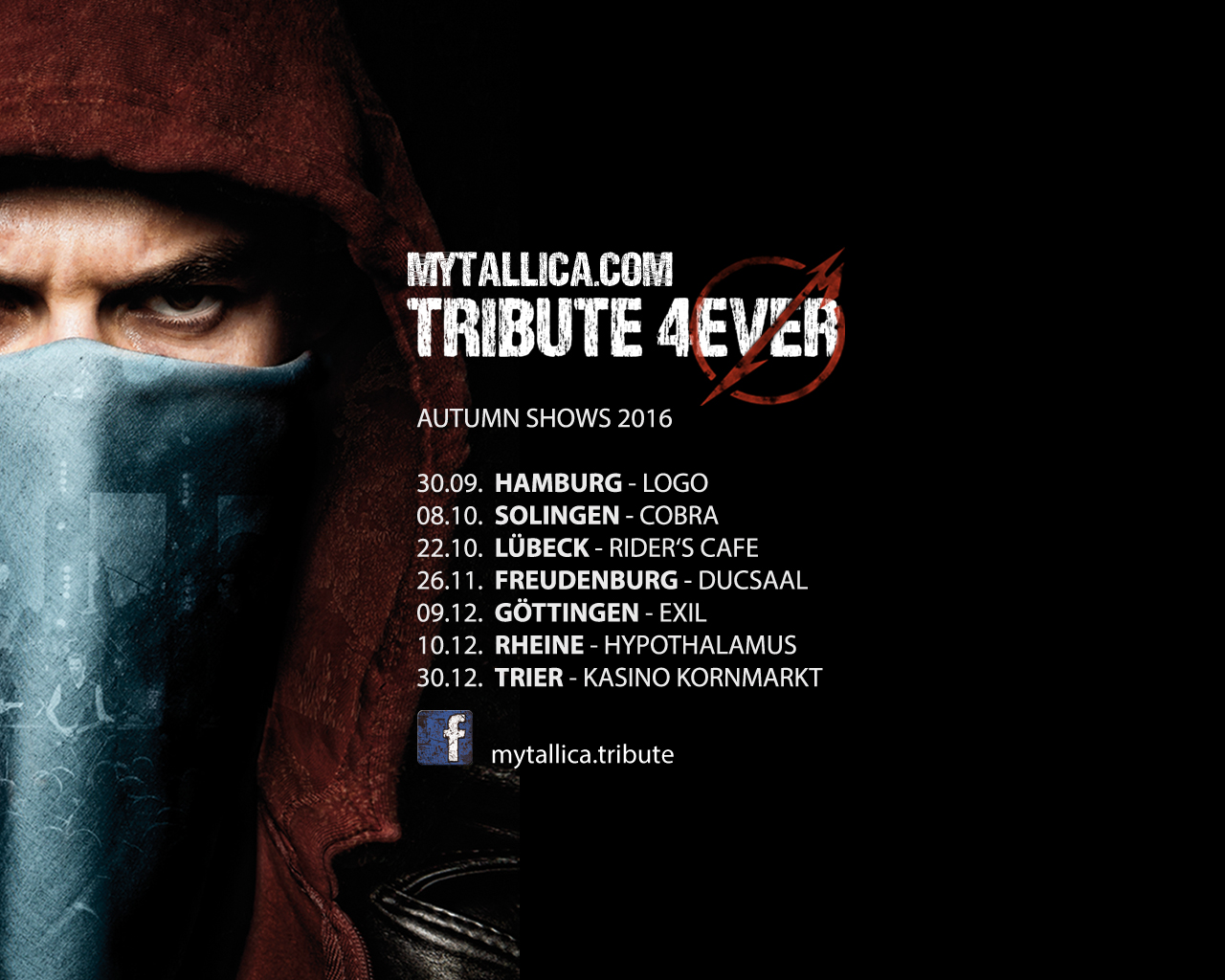 Metallica Tribute Band MY'TALLICA Deutschland Tour 2016