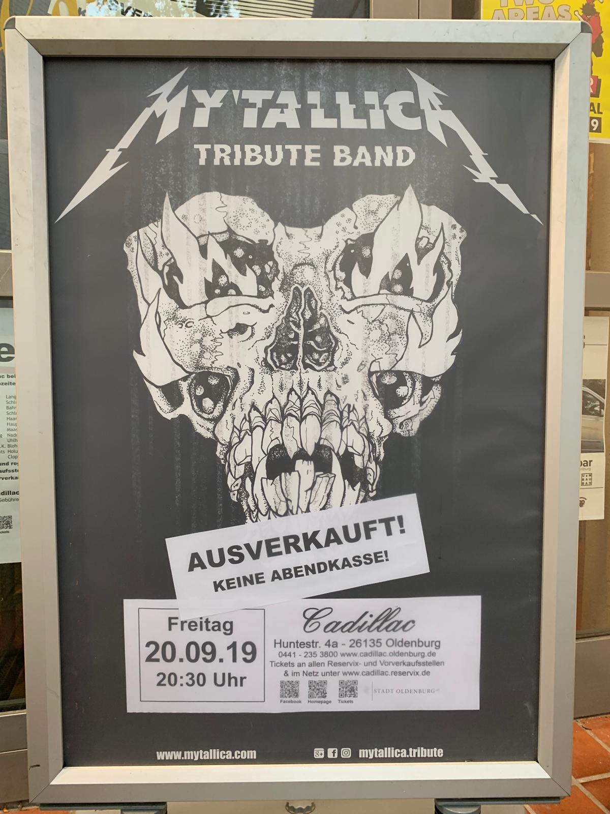mytallica-cadillac-oldenburg-2019-ausverkauft-plakat
