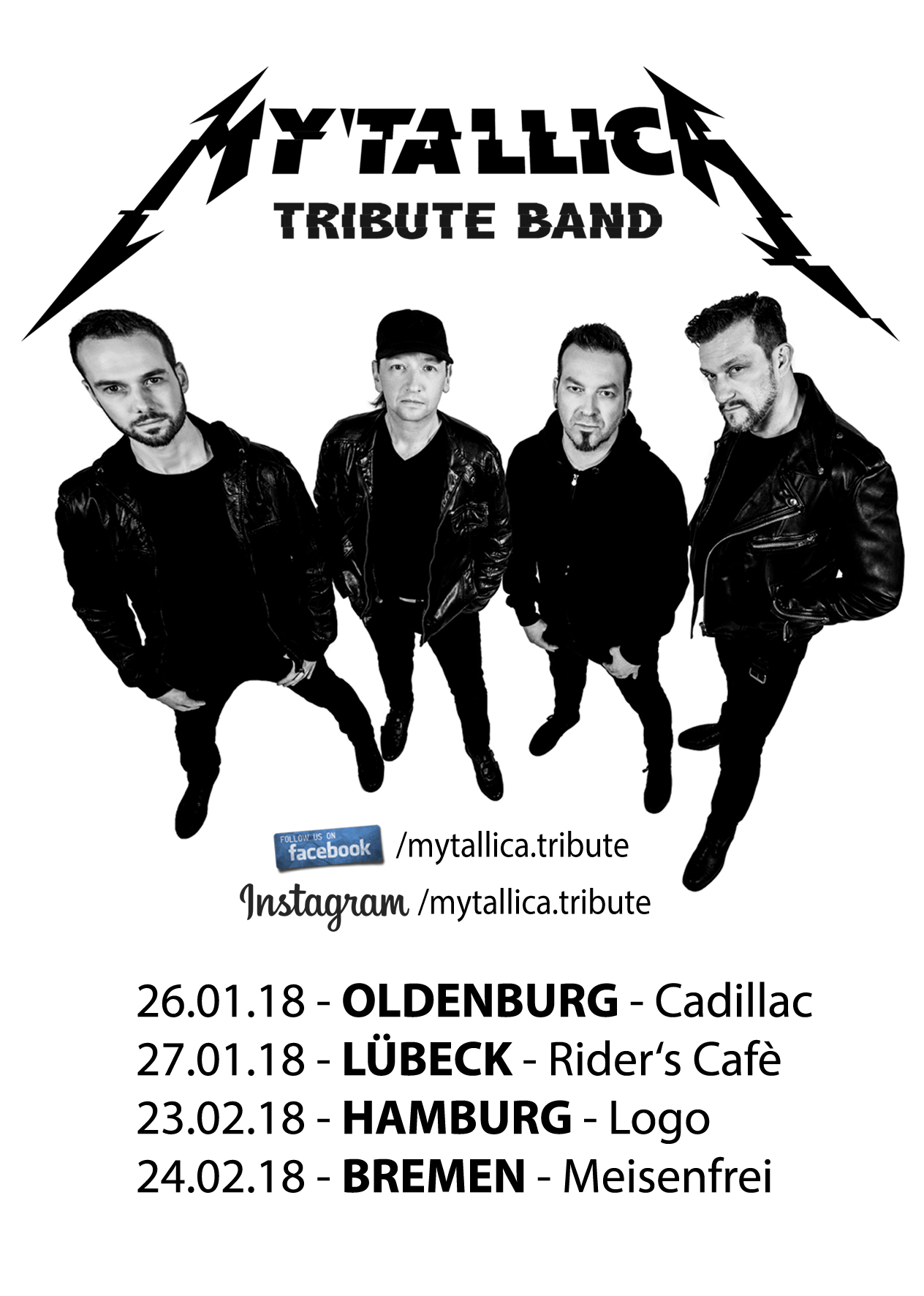 Metallica-Cover-MYTALLICA-Tribute-Band-Shows-2018-Flyer-Hamburg-Bremen-Oldenburg-Lübeck